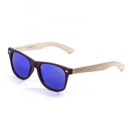 Očala Ocean BEACH WOOD - 50001.2 Bamboo Natural Arm-Brown Dark Front-Revo Blue Lens