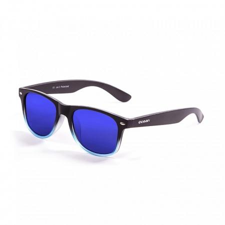 Očala Ocean BEACH - 18202.119 Matte Black Up Blue Transparent-Revo Blue Lens