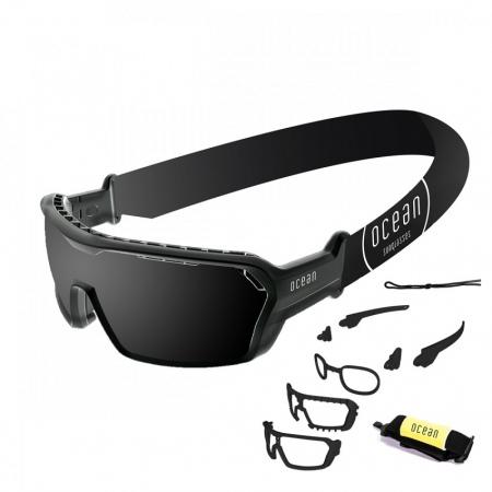Očala Ocean CHAMELEON - 3700.1X Shinny Black-Smoked Lens-Black Nosepad-Tips-Foam Black Strap