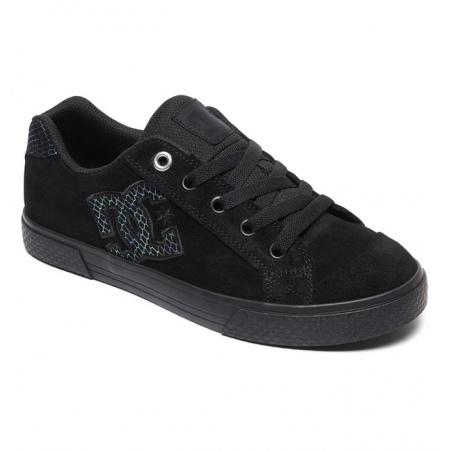 Čevlji DC W CHELSEA SE - Osb Black-Silver-Black