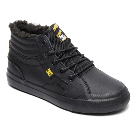 Čevlji DC KID EVAN HI - Xkky Black-Black-Yellow