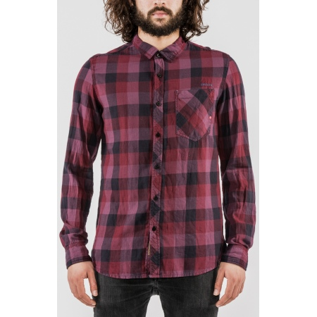 Mystic BREAKER LS Shirt - 322 Oxblood Red
