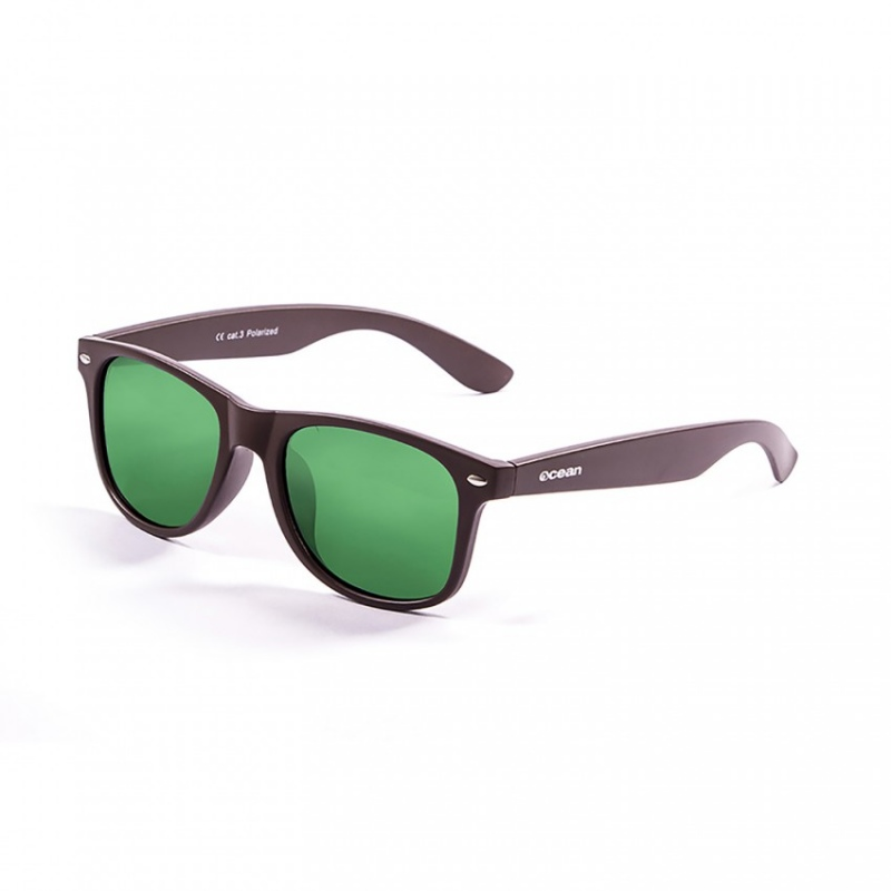 91dca8d9c3c Ocean BEACH - 18202.47 Matte Brown Frame-Revo Green - Infinity ...