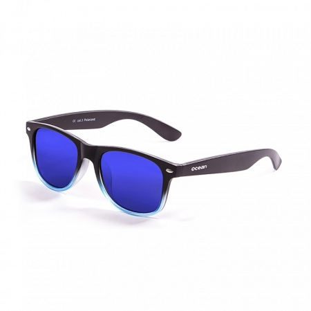 Očala Ocean BEACH - 18202.119 Matte Black Up Blue Transparent-Revo Blue Lens
