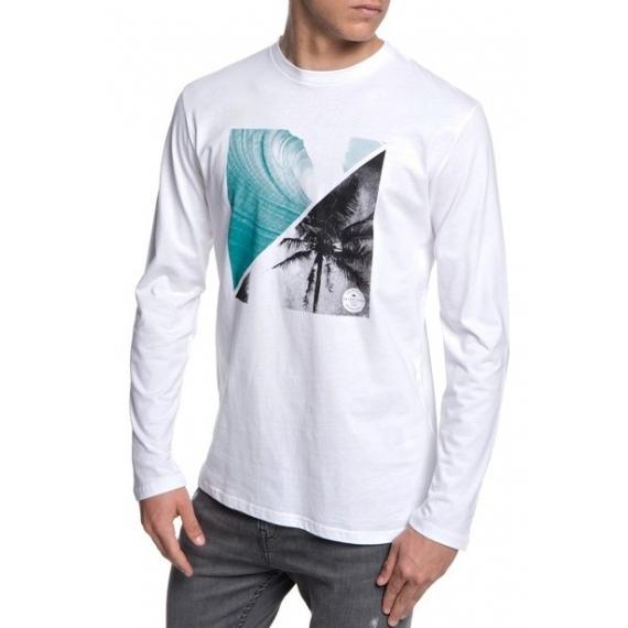 Majica Quiksilver COLOURFUL NIGHT LS - Wbb0 White