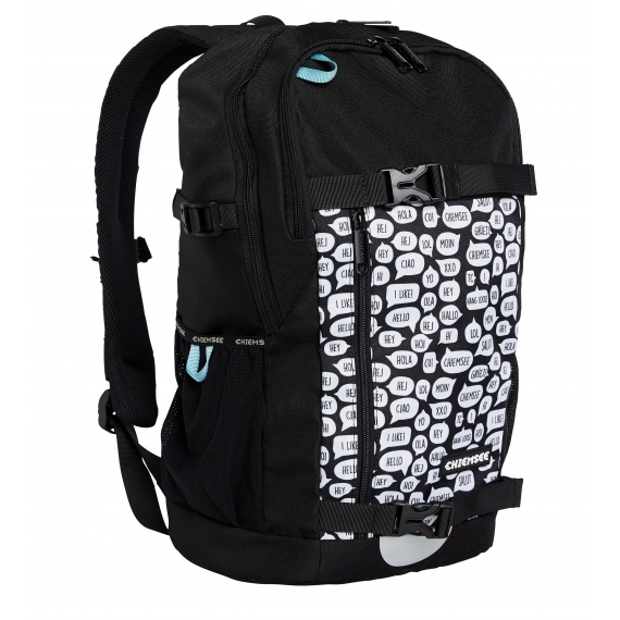 e1e45931962 Chiemsee SCHOOL-2 Backpack - 1090 White Black - Infinity Sport ...