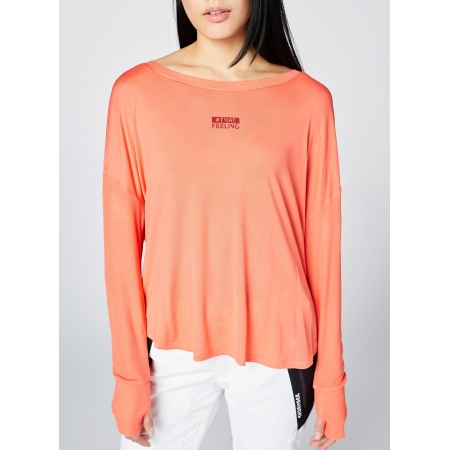 Majica Chiemsee HUDSON BAY LS - 17-1656 Hot Coral