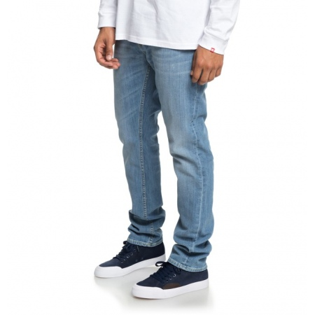Hlače DC WORKER Straight - Light Indigo Bleach