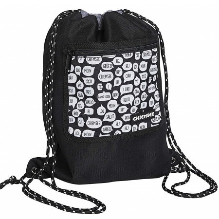 Nahrbtnik Chiemsee DRAWSTRING BAG - 1090 White-Black