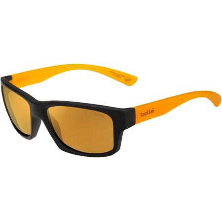 Očala Bolle HOLMAN FLOATABLE - Matte Black Crystal Honey-Hd Polarized Brown Gold