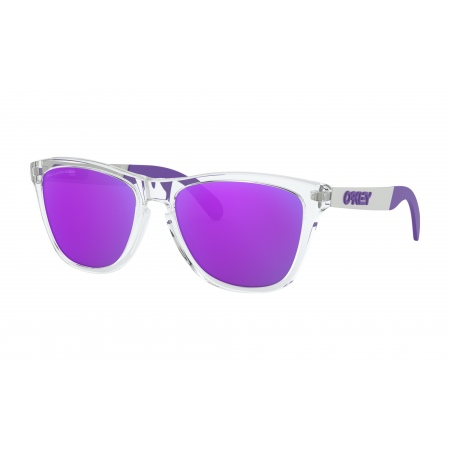 Oakley FROGSKINS MIX - 9428-0655 Polished Clear-Violet Iridium Polarized
