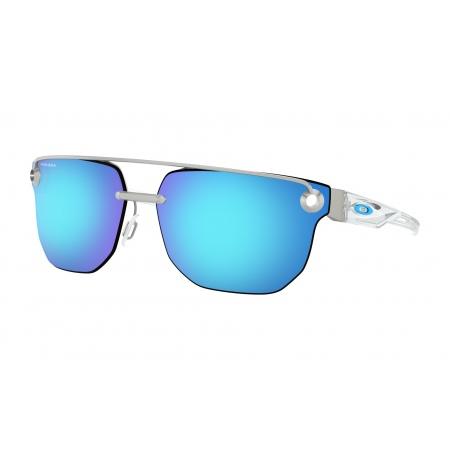 Očala Oakley CHRYSTL - 4136-0867 Satin Chrome-Prizm Sapphire