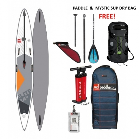 "SUP Red Paddle ELITE 14' x 25"" 2019 + VESLO in nepremočljiva torba Gratis"