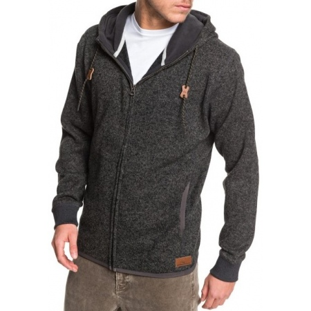 Majica Quiksilver KELLER ZIP - Krph Dark Grey Heather