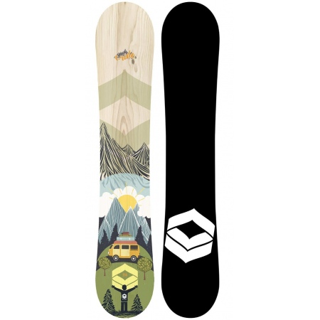 Snowboard FTWO T-RIDE Wood MW 157W - Fo Forest