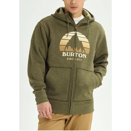 Majica Burton OAK Zip Hoodie - 300 Keef Heather