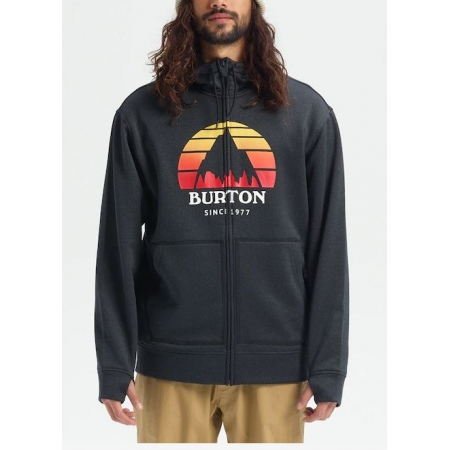Majica Burton OAK Zip Hoodie - 002 Sunset True Black Heather