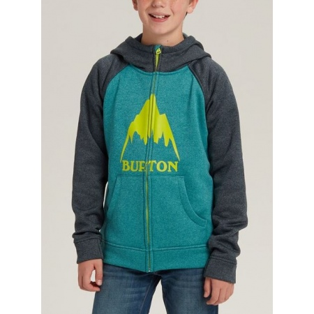 Majica Burton KID OAK Zip Hoodie Junior - 400 Green-Blue Slate Heather