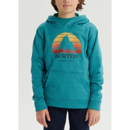 Majica Burton KID OAK Hoodie Junior - 400 Green-Blue Slate Heather