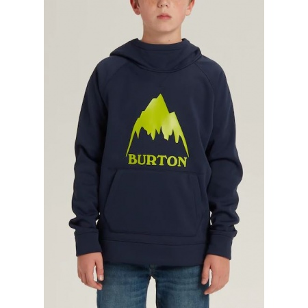 Majica Burton KID CROWN Hoodie Junior - 400 Dress Blue