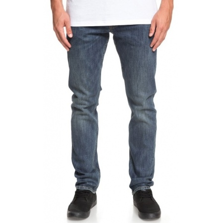 Hlače Quiksilver REVOLVER Straight Fit - Bygw Medium Blue