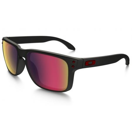 Očala Oakley HOLBROOK - 9102-36 Matte Black-Red Iridium