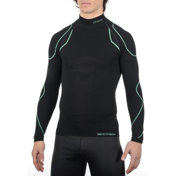 Spodnja Majica Mico IN 1840 Mock Neck Warm - 460 Nero Verde