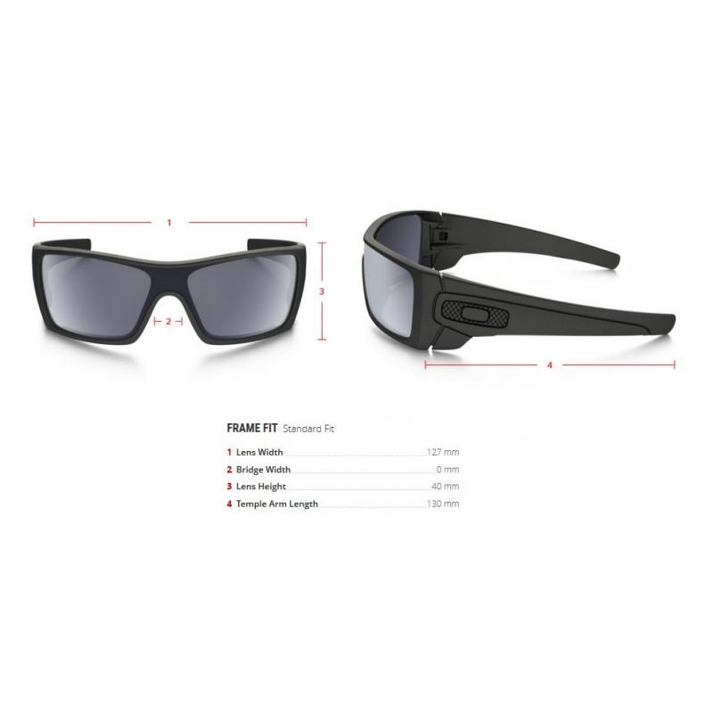 22381d9725d30 Oakley BATWOLF - 9101-04 Matte Black-Grey Polarized - Infinity Sport ...