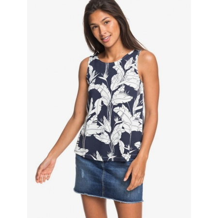 Majica Roxy FINE WITH YOU Printed - Bsp7 Mood Indigo Flying Flowers