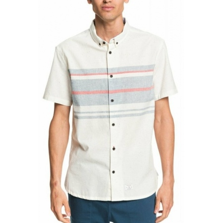 Srajca Quiksilver MARIN DE SURF SS - Snow White Placement Stripes