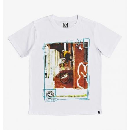 Majica DC KID FUNK FOOTPLANT SS - Wbb0 White