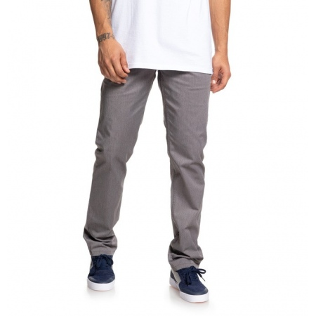 Hlače DC WORKER STRAIGHT CHINO - Knfh Grey Heather