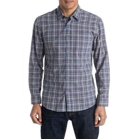 Quiksilver EVERYDAY CHECK Long Sleeve Shirt - Bpt1 Check Night Shadow