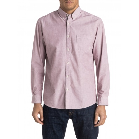 Quiksilver EVERYDAY WILSDEN Long Sleve Shirt - Rpv0 Wild Ginger