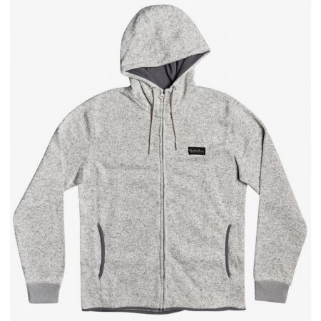 Majica Quiksilver KELLER ZIP - Sjsh Light Grey Heather
