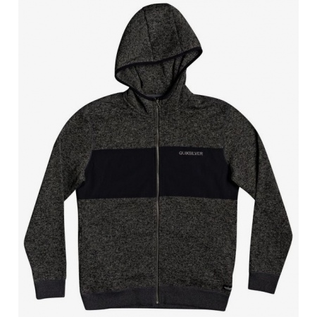 Majica Quiksilver KELLER HOOD ZIP - Dark Grey Heather