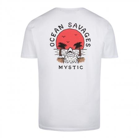 Majica Mystic SUNDOWNER SS - 100 White