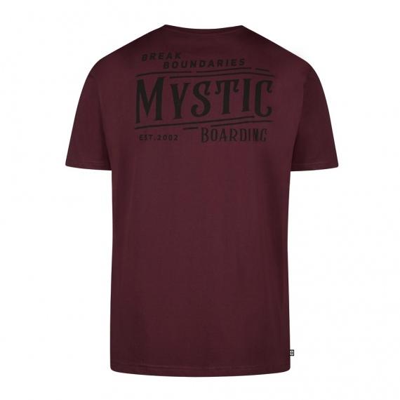 Majica Mystic HOWL SS - 322 Oxblood Red