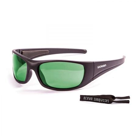 Ocean BERMUDA - Matte Black-Revo Green Polarized