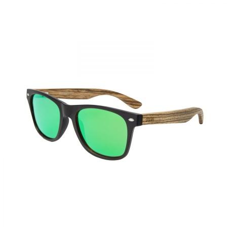 Očala Ocean BEACH WOOD - Zebra Wood Matte Black-Green Polarized