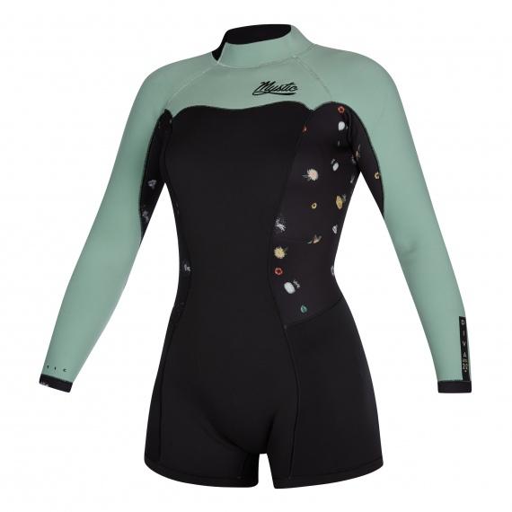 Mystic Obleka DIVA 2-2 Longarm Shorty Backzip Women - 900 Black