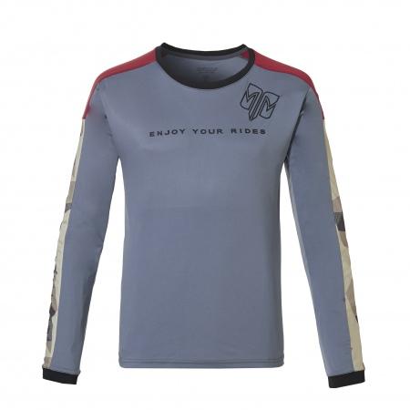 Majica Rehall ETIENNE LS - 3019 Steel Blue