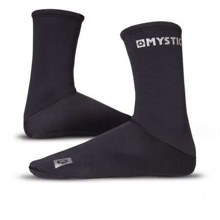 Mystic NEOPRENE SEMI DRY ROUND Toe Socks - 900 Black