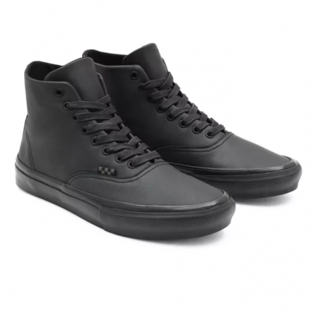 Vans AUTHENTIC High (Pearl Leather) - Black