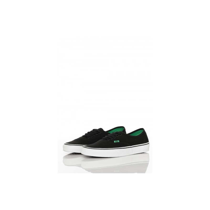 2495f8f69a40 Vans AUTHENTIC Shoes - Bkg Black-Kelly Green - Infinity Sport ...