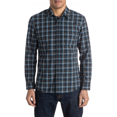 Quiksilver EVERYDAY CHECK LS Shirt - Kvj1 Check Black