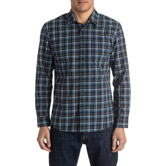 Srajca Quiksilver EVERYDAY CHECK LS - Kvj1 Check Black