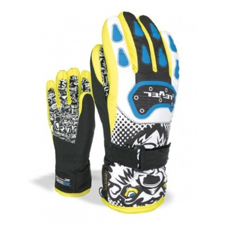 Rokavice Level JUNIOR Junior - Blyel Black-Yellow