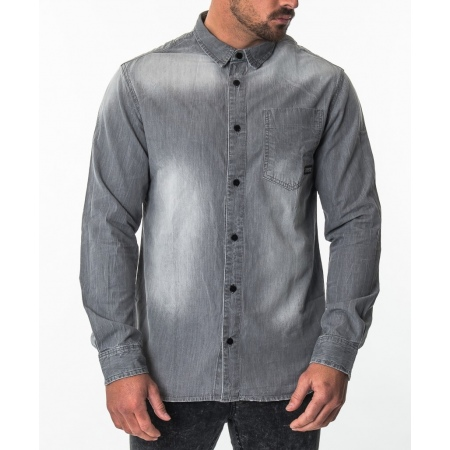 Mystic SAVAGE LS Shirt- 803 Faded Concrete