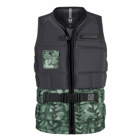 Mystic Jopič SHRED Impact Vest Wake Zip - 605 Green Allover